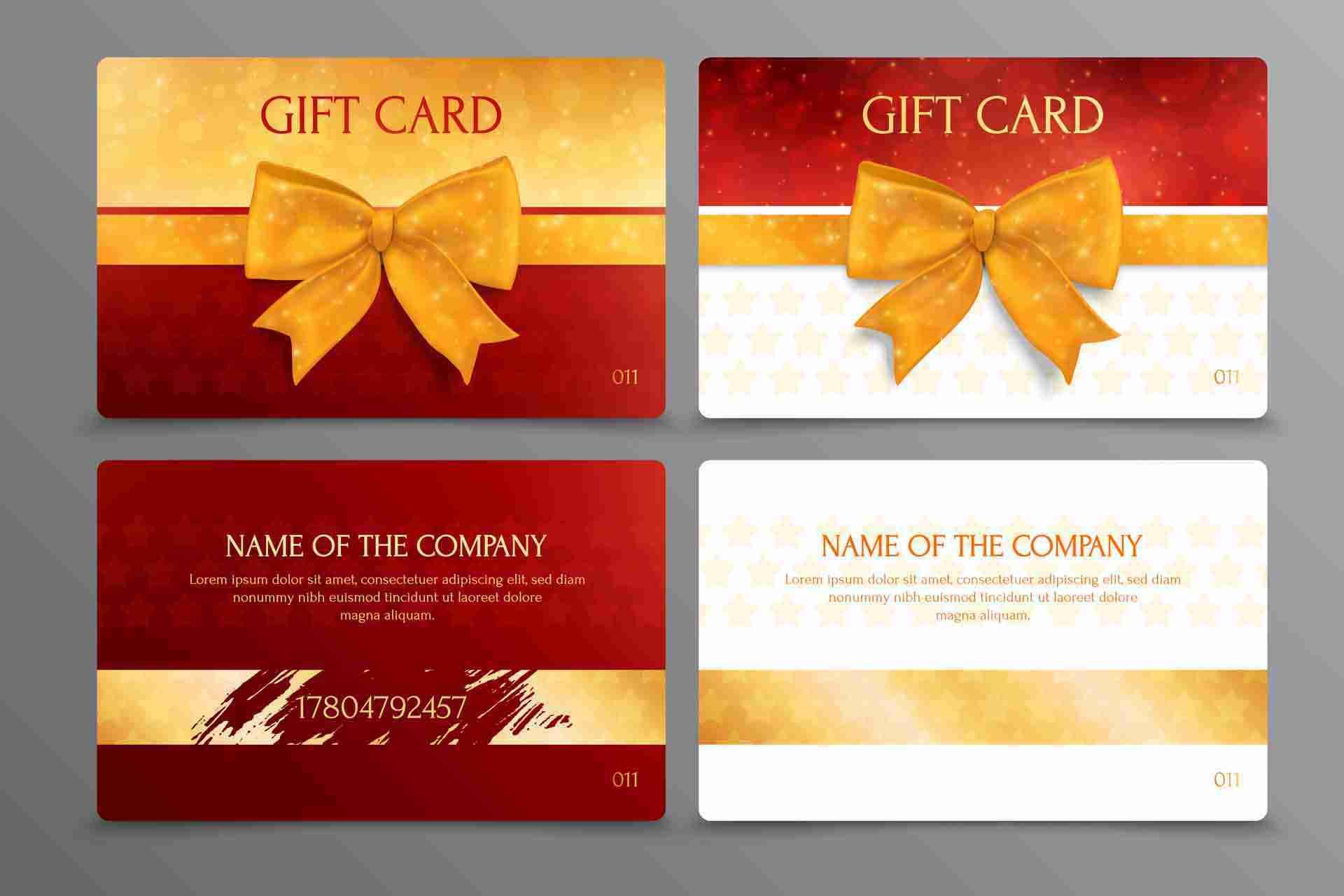 Discount Scratch Gift Card Design