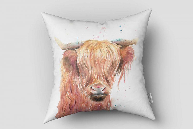 """Katie Louise Watercolour Cushion Print 16x16"""""""