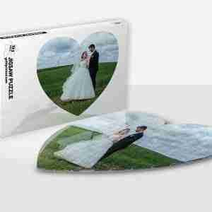 Heart Shaped Photo Puzzle & Gift Box