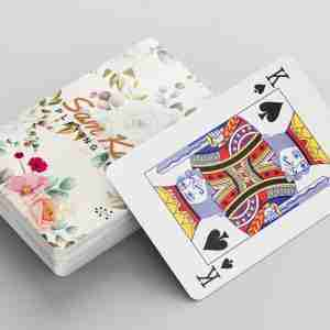 Personalised Playing Cards and Box