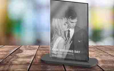 High Gloss Acrylic Photo Print and Stand