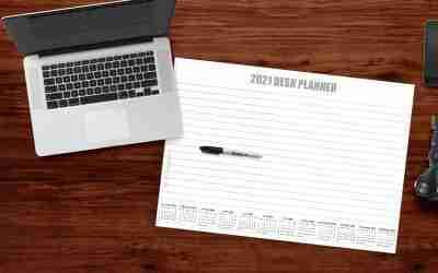 Custom Desk Planner Pad