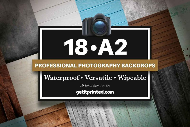 18x A2 Waterproof Photographic Backdrops Multipacks