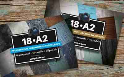 A2 Waterproof Photographic Backdrops Multipacks