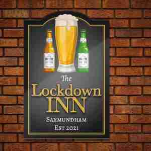 Home Bar Pub Sign – Beer Theme Personalised On getitprinted.com