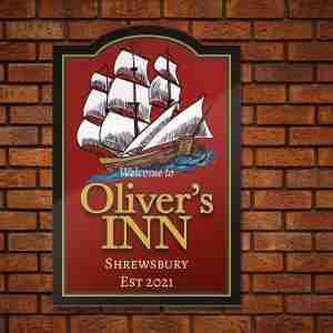 Home Bar Pub Sign – Classic Ship Theme On getitprinted.com