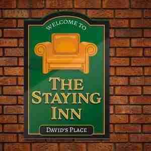 Home Bar Pub Sign – The Staying Inn Lockdown On getitprinted.com